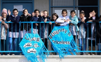 Donations to UNRWA help keep Palestinian students in school